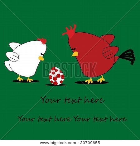 Chicken Cartoon Card