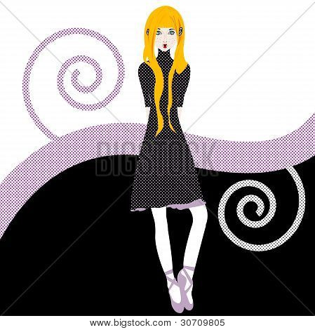 Blonde Girl Illustration