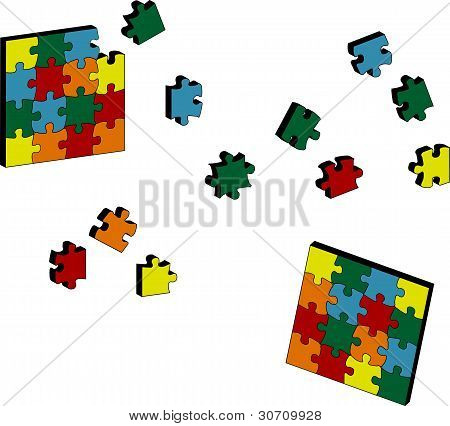 3D Puzzle Illustration