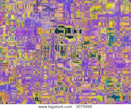 Genetic Art Violet And Yellow Cellular