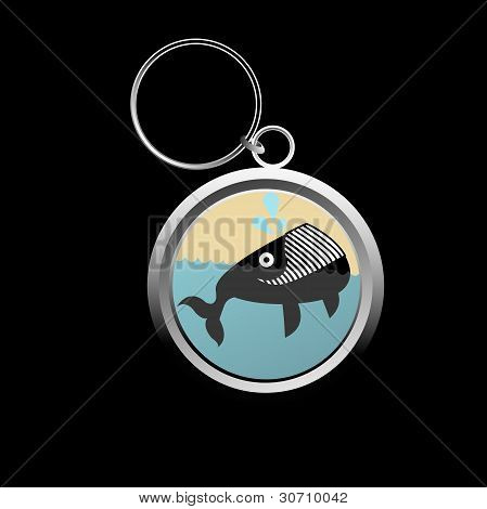 Cute Whale Key-chain