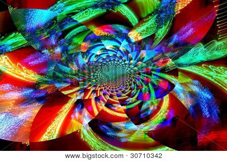 Psychedelic abstract design backround