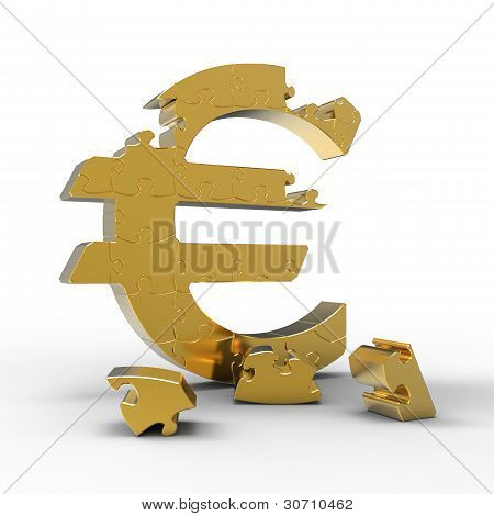 Puzzle of a us dollar sign.
