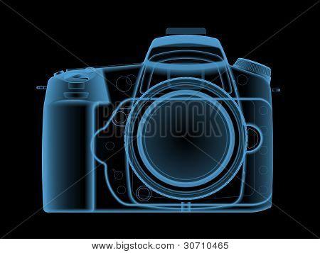 X-ray of a digital photo camera.