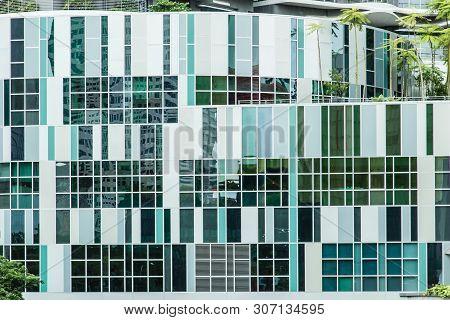 Singapore-13 Aug 2017: Ng Teng Fong General Hospital In Singapore Building Facade Detail