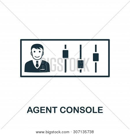 Agent Console Vector Icon Symbol. Creative Sign From Icons Collection. Filled Flat Agent Console Ico
