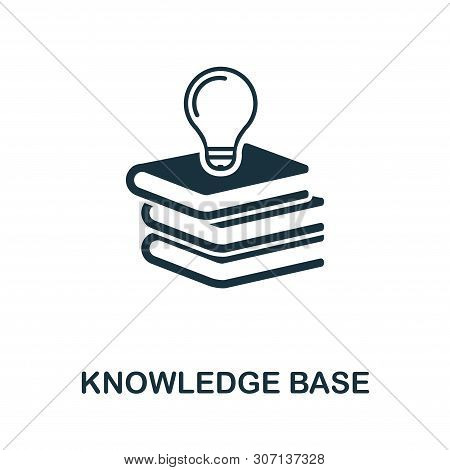 Knowledge Base Vector Icon Symbol. Creative Sign From Icons Collection. Filled Flat Knowledge Base I