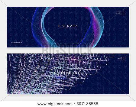 Big Data Background. Digital Technology Abstract Concept. Artificial Intelligence And Deep Learning.