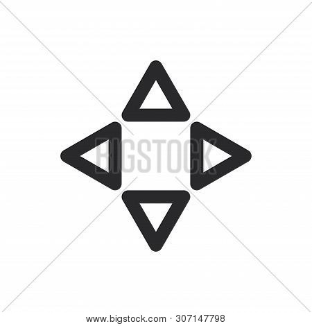 Navigation Arrows Icon Isolated On White Background. Navigation Arrows Icon In Trendy Design Style F