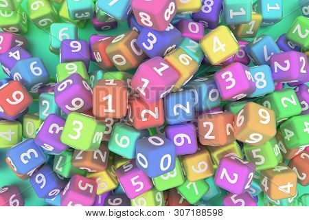 Decorative, Illustrations Cgi Geometric, Bunch Of Number Character Symbol Or Sign, For Design Textur