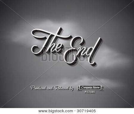 Movie ending screen - Editable Vector EPS10