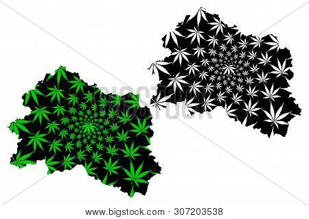 Oryol Oblast (russia, Subjects Of The Russian Federation, Oblasts Of Russia) Map Is Designed Cannabi