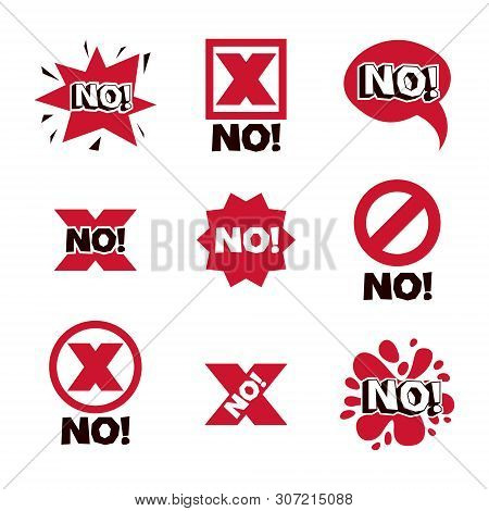 Cross Sign, Wrong Concept. Vector Rejection Symbol, Disapproved Isolated On White.