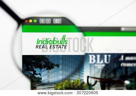 New York, New York State, Usa - 18 June 2019: Illustrative Editorial Of Indiabulls Real Estate Websi