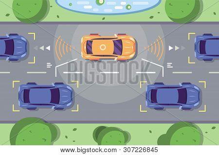Autonomous Car Driving On Road With Sensing