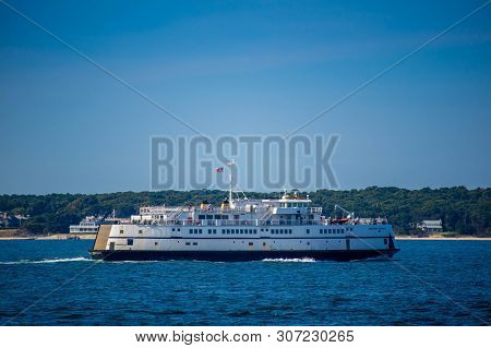 A Huge Tourist Passenger Boat In Cape Cod, Massachusetts