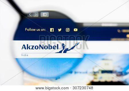 New York, New York State, Usa - 19 June 2019: Illustrative Editorial Of Akzo Nobel India Website Hom