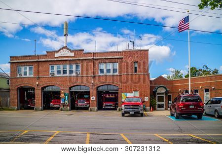 Bar Harbor, Me, Usa - August 19, 2018: The Bhfd Fire Department