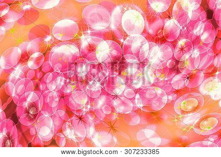 Pink Defocused Twirl Pattern Wallpaper. Abstract Blurred Background.