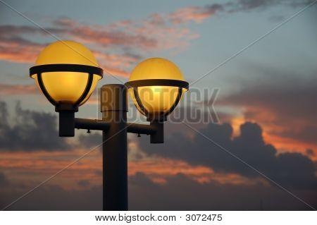 Night Lights At Sunrise