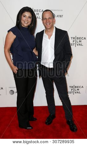 NEW YORK-APR 26: Sandra Howard and Andrew Essex attend 'The Exception' screening during the 2017 TriBeCa Film Festival at BMCC Tribeca PAC on April 26, 2017 in New York City.