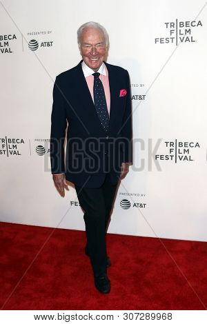 NEW YORK-APR 26: Actor Christopher Plummer attends 'The Exception' screening during the 2017 TriBeCa Film Festival at BMCC Tribeca PAC on April 26, 2017 in New York City.
