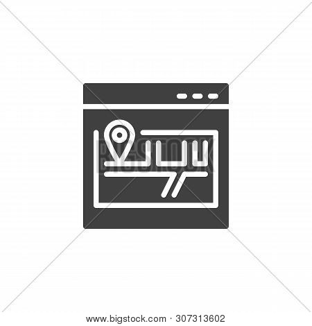 Site Map Vector Icon. Scheme, Sitemap Filled Flat Sign For Mobile Concept And Web Design. Website Ma