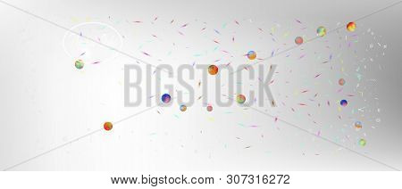 Breezy Space And Signs Confetti. Background Color. Professional Colorific Illustration. Ultra Wide B