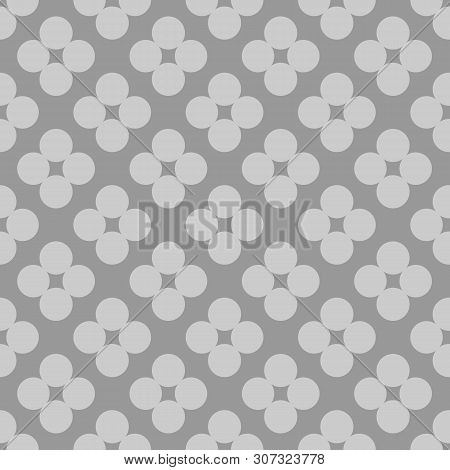 Gray Abstract Background, Ellegant Seamless Pattern, Modern Backdrop Design - Vector