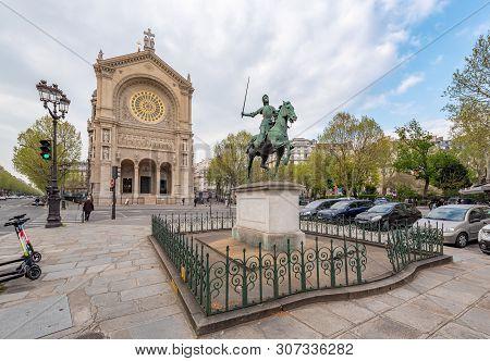Paris, France - April 12, 2019: The Eglise Saint-augustin De Paris - Church Of St. Augustine - Catho