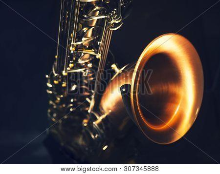 Saxophone Music Instrument Close Up Classical Jazz Music