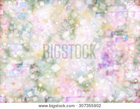 Pastel Colors Defocused Bokeh Pattern As Abstract Background.