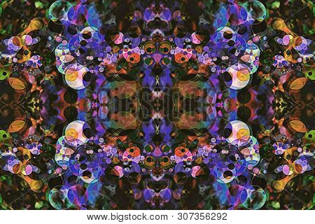 Color Kaleidoscope Abstract Background. Digitally Generated Image.