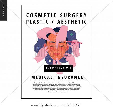 Medical Insurance -cosmetic, Plastic, Aesthetic Surgery -modern Flat Vector Concept Digital Illustra