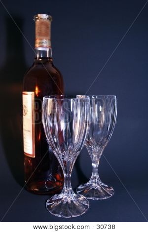 Wine Bottle With Glasses 2