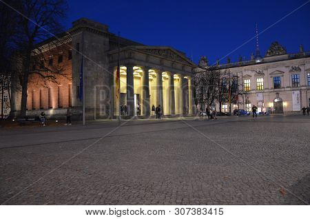 Berlin, Germany - 11.13.2016: Central Memorial Of The Federal Republic Of Germany For The Victims Of