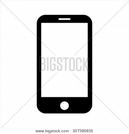 Mobile Phone Icon Vector In Modern Flat Style For Web, Graphic And Mobile Design. Mobile Phone Icon