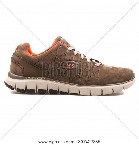 RIVER FALLS,WISCONSIN AUGUST 25,2016: A closeup view of a Skechers..