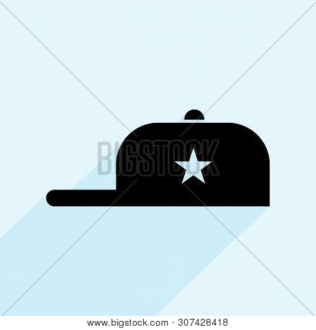 Baseball Cap Vector Icon On White Background. Baseball Cap Modern Icon For Graphic And Web Design. B