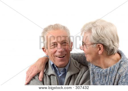 Older Couple Having A Laugh