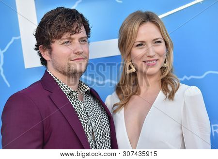 LOS ANGELES - JUN 17:  Jon Fletcher and Beth Riesgraf arrives for the STARZ 'The Rook' Premiere on June 17, 2019 in Los Angeles, CA