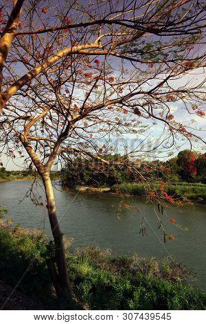 Asia Thailand Sukhothai Landscape River