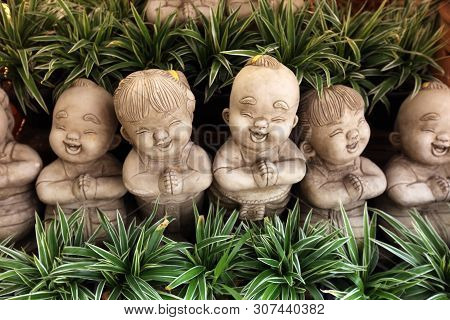 Asia Thailand Sukothai Garden Figure