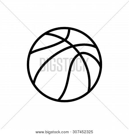 Ball Of Basketball Icon Isolated On White Background. Ball Of Basketball Icon In Trendy Design Style
