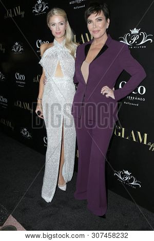 LOS ANGELES - JUN 19:  Paris Hilton, Kris Jenner at the The Glam App Celebration Event at the Cleo on June 19, 2019 in Los Angeles, CA
