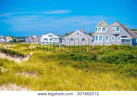 Cape Cod Marthas Vineyard, Ma, Usa - Sept 4, 2018: A Random, Classic And Colorful Beautiful Private