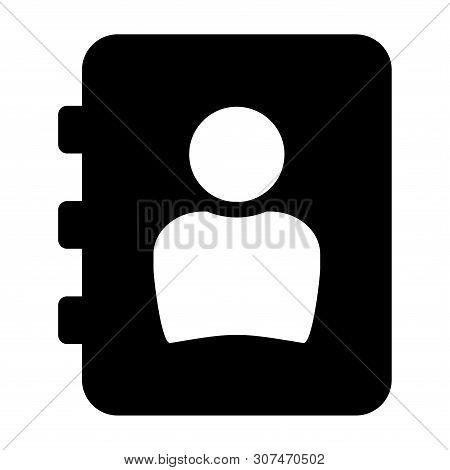 Phonebook Icon Isolated On White Background. Phonebook Icon Simple Sign. Phonebook Icon Trendy And M