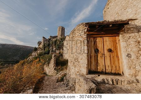 Citadel Pocitelj, Castle In Bosnia And Herzegovina In The Valley Of The River Neretva. This Fortress