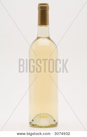 Isolated White Wine Bottle