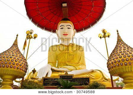 Buddha Statue In Wat Shan, Chiangmai Thailand